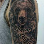 קעקוע של דוב על הזרוע